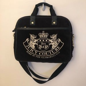 Juicy Couture Black Velour Computer Bag
